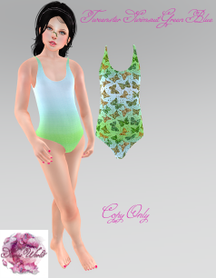 Tweenster Swimsuit Green Blue