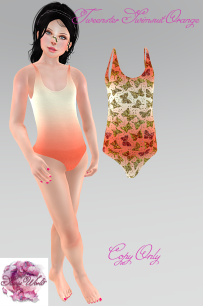 tweenster Swimsuit Orange