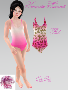 Tweenster Swimsuit Pink